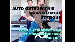Auto-ostéopathie Bassin: un étirement en manipulations sacro-iliaques