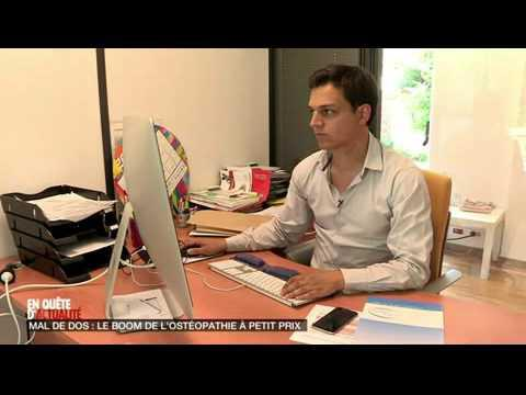 OSTEO ENTREPRISE Reportage D8 En Quête D'Actualité Ostéopathie En Entreprise