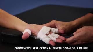 Thuasne - Bandes Mobiderm main - Technique de bandage réducteur d'un lymphoedème