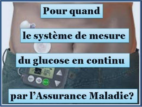 Système de mesure du glucose en continu remboursé par l'Assurance Maladie